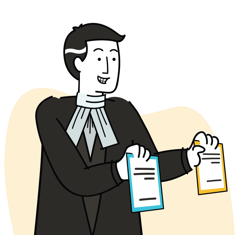 Multiply Lawyer Character explaining the legal terms and conditions and privacy policies of Multiply