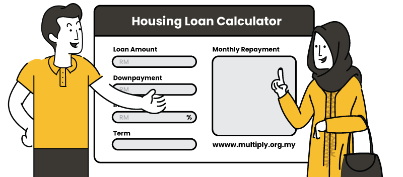 Housing Loan Calculator Image with multiply characters