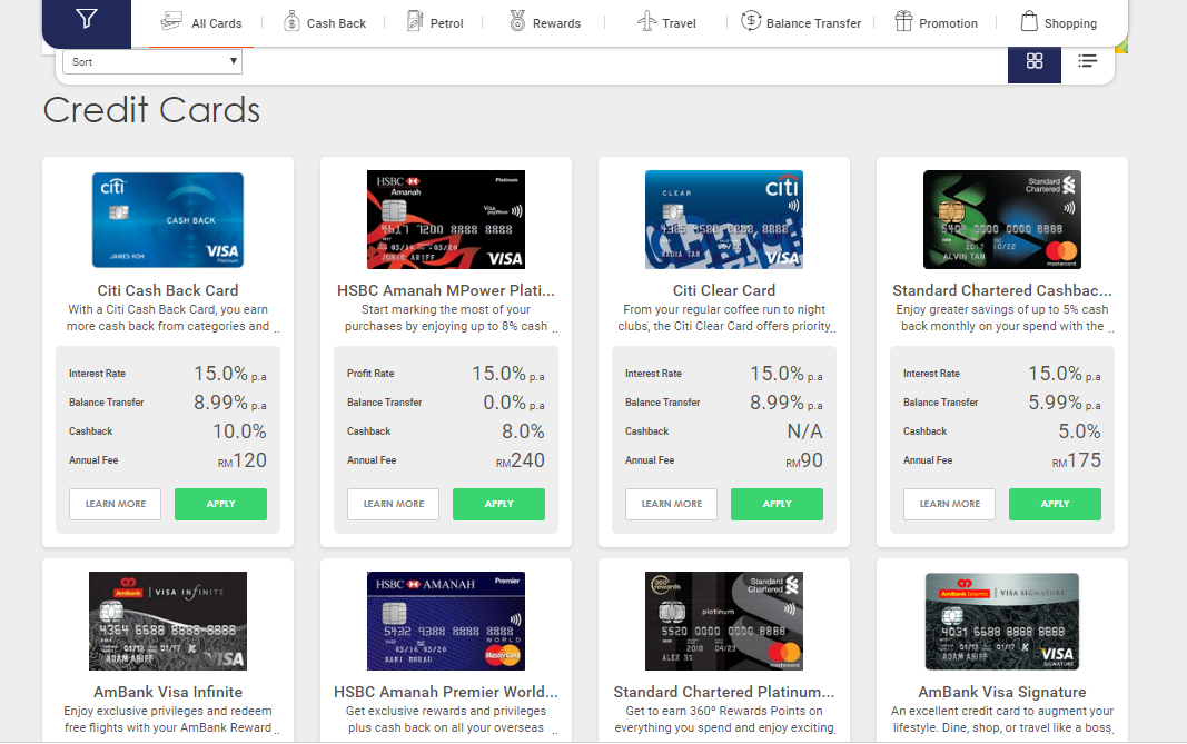 Use comparison sites to find the most suitable credit card for you 1 - Multiply -