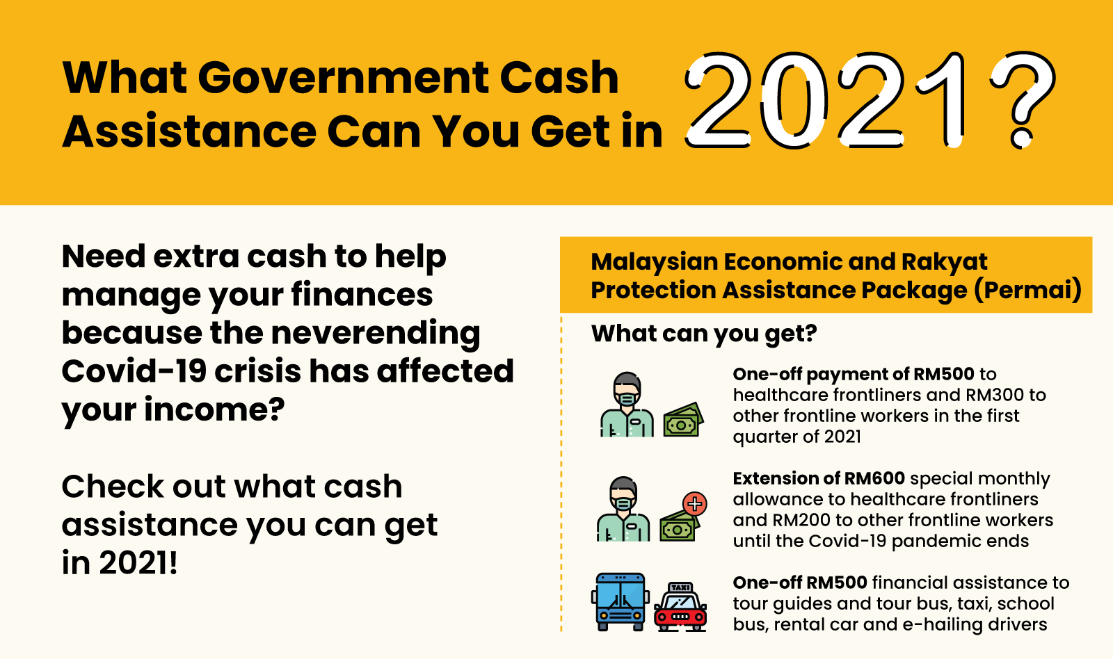 What Government Cash Assistance Can You Get in 2021? 3 - Multiply - Planning & Budgeting